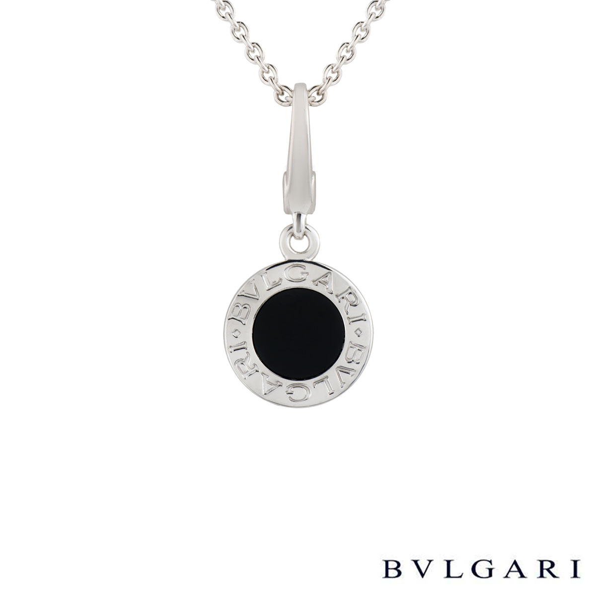 Bvlgari bvlgari white gold and onyx pendant rich diamonds of bond bvlgari bvlgari white gold and onyx pendant aloadofball Choice Image